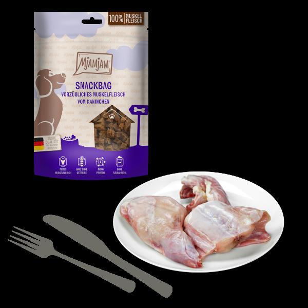 MjAMjAM - Snackbag vorzügliches Muskelfleisch vom Kaninchen