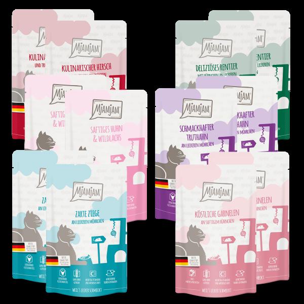 MjAMjAM - leckere Mahlzeiten Mixpaket V für deine Katze 12 x 125 g