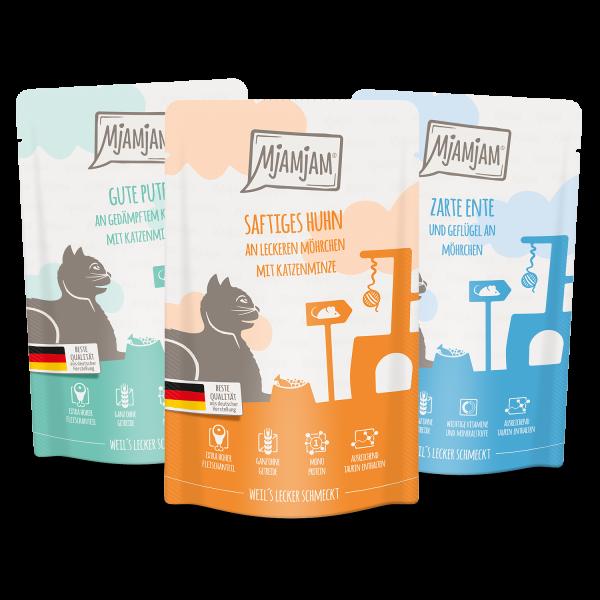 MjAMjAM - leckere Mahlzeiten Mixpaket IV für deine Katze 12 x 125 g