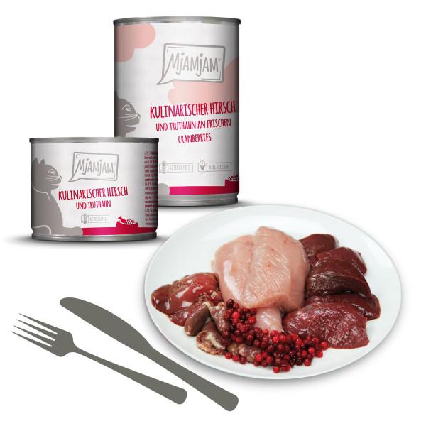 MjAMjAM - kulinarischer Hirsch und Truthahn an frischen Cranberries