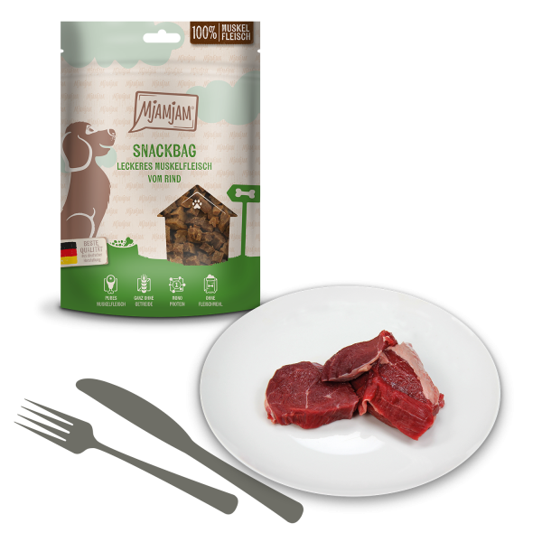 MjAMjAM - Snackbag leckeres Muskelfleisch vom Rind