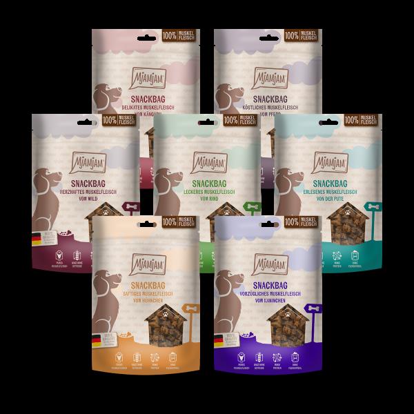 MjAMjAM - Snackbag Multipack Muskelfleisch 8 x 100g