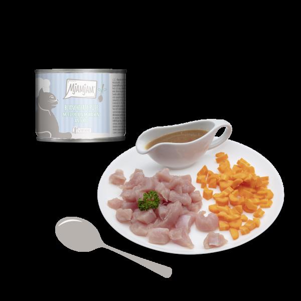 MjAMjAM – blanchierte Pute mit leckeren Möhrchen an Soße