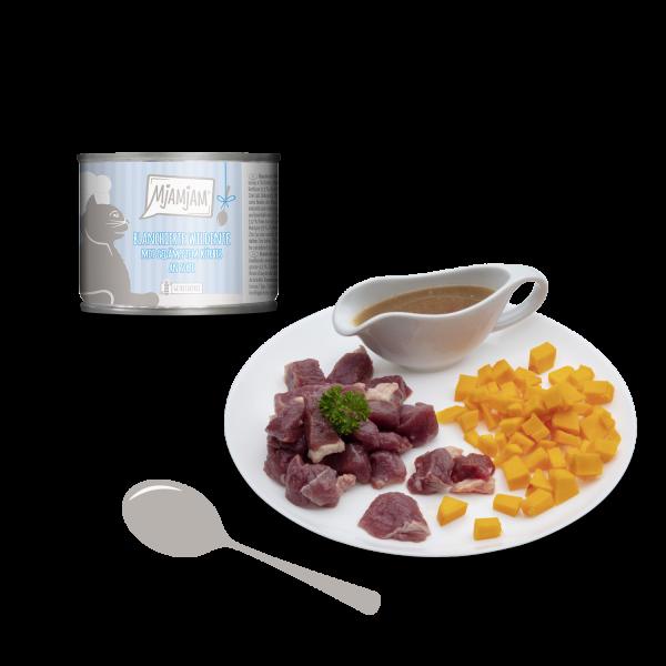 MjAMjAM – blanchierte Wildente mit gedämpftem Kürbis an Soße