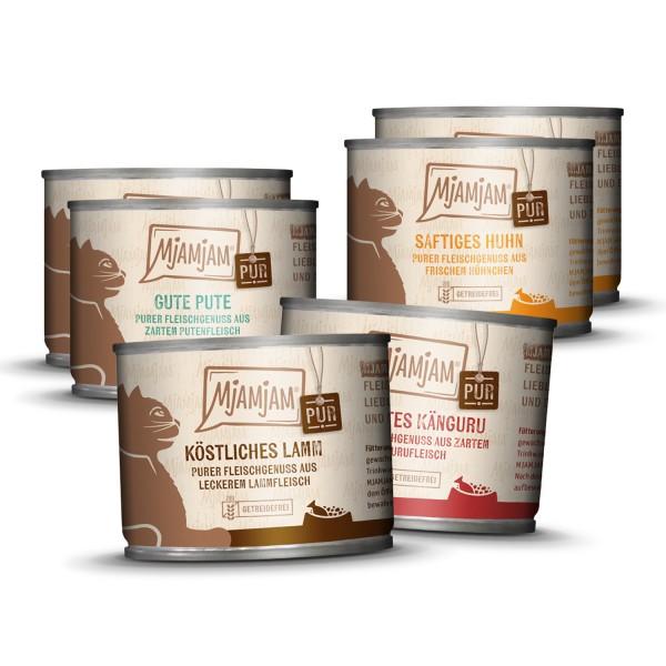 MjAMjAM - purer Fleischgenuss Mixpaket V für deine Katze 6 x 200g