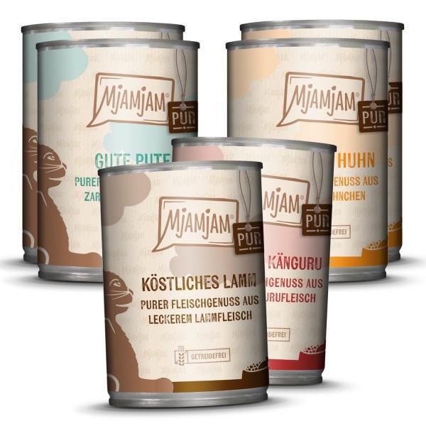 MjAMjAM - purer Fleischgenuss Mixpaket V für deine Katze 6 x 400g