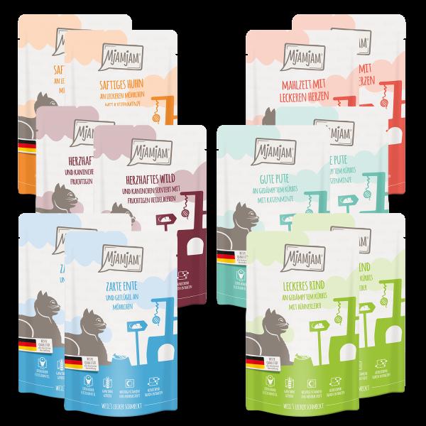MjAMjAM - leckere Mahlzeiten Mixpaket III für deine Katze 12 x 125 g