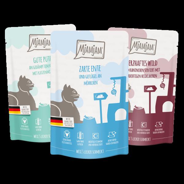 MjAMjAM - leckere Mahlzeiten Mixpaket II für deine Katze 12 x 125 g