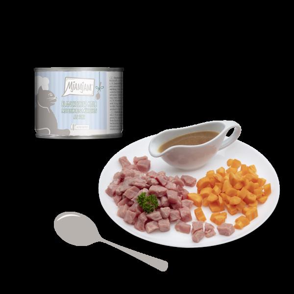 MjAMjAM – blanchiertes Kalb mit leckeren Möhrchen an Soße