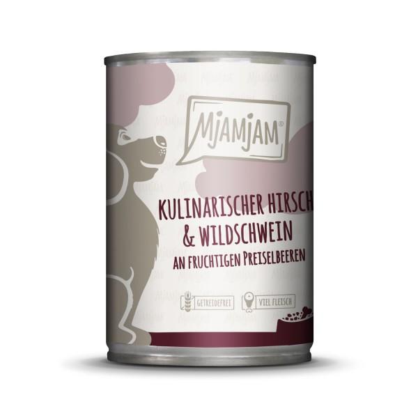 MjAMjAM - kulinarischer Hirsch & Wildschwein an Preiselbeeren